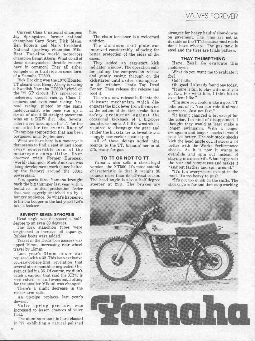 Vintage Yz Info Wiring Schematic Yamaha Yz400 Pg 1